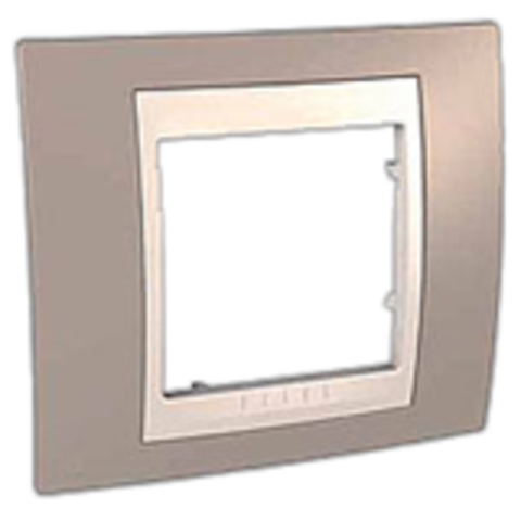 Рамка на 1 пост. Цвет Коричневый/Белый. Schneider electric Unica Хамелеон. MGU6.002.874