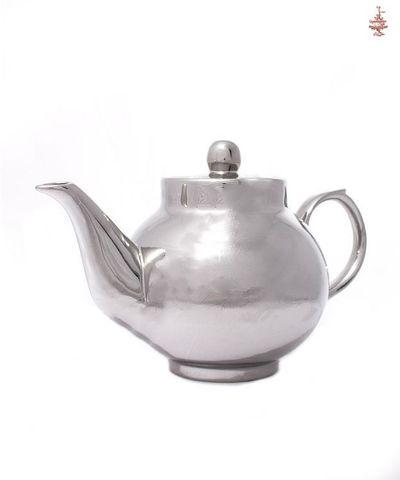 Чайник заварочный серебристый