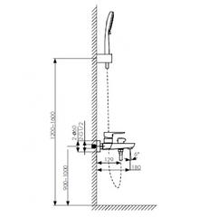 Смеситель KAISER Sofia 04022 для ванны схема