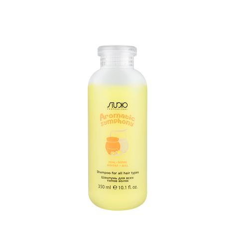 Шампунь для всех типов волос Молоко и Мед 350 мл. Kapous Studio