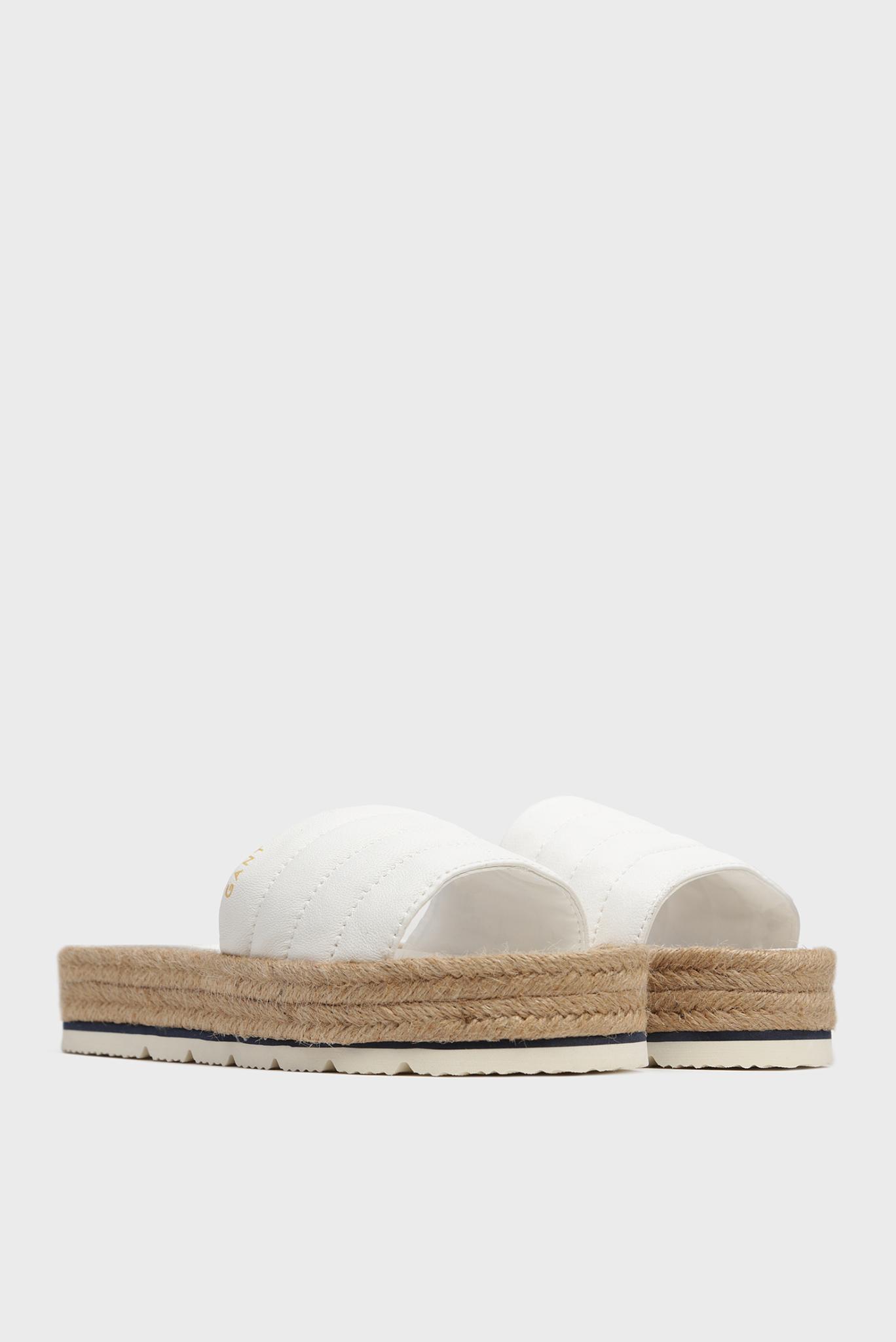 Женские белые кожаные слайдеры CAPE CORAL Gant