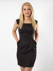 6321-1 платье темно-коричневое