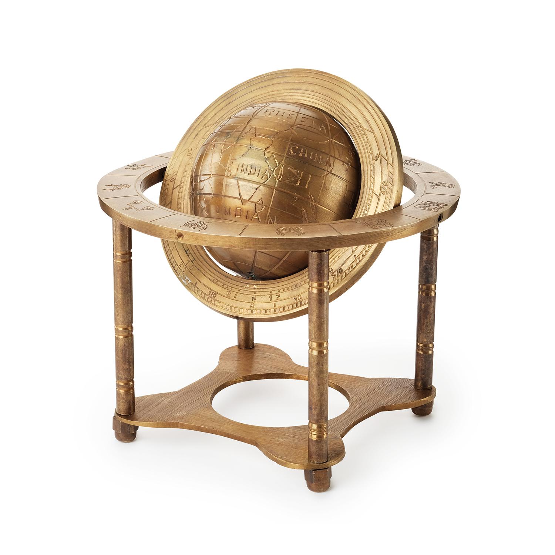 Эксклюзивный глобус из латуни