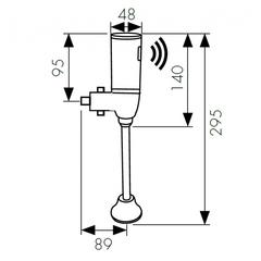 Смывное устройство для писсуаров KАISER Sensor 3800 схема