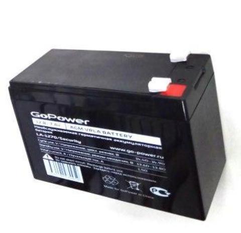 Аккумуляторы GoPower свинцово-кислотные LA-1270 12 V 7mAh