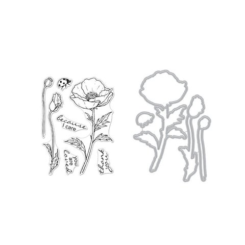 Набор штампов с координирующими ножами HERO FLORALS - Poppy Combo