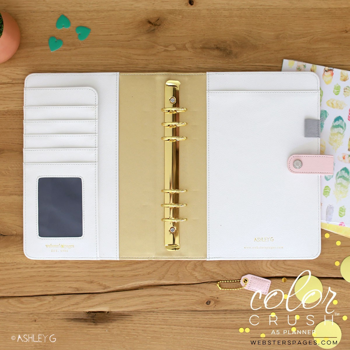 Планер A5 BLUSH & GOLD FOIL DOT PLANNER KIT by Websters Pages