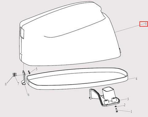 Капот в сборе для лодочного мотора F9.8 Sea-PRO (1-9)