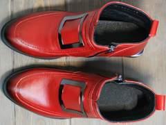 Ботинки с пряжками женские Evromoda 1481547 S.A.-Red