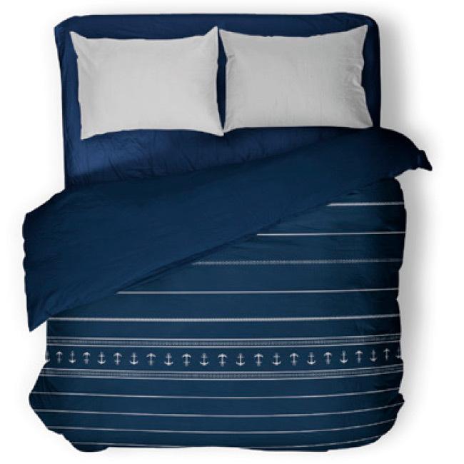 Santorini light quilt / double blue