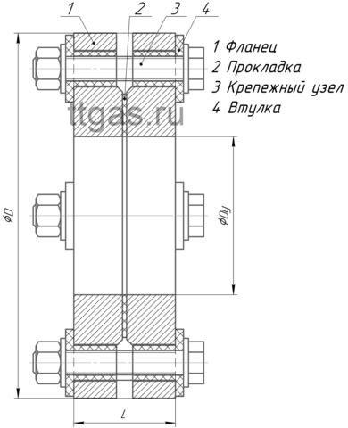 ИФС-150-16 двухфланцевое исп.2 схема