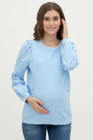 Свитшот для беременных и кормящих 11699 голубой