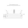 Размеры рамки TWT8001 для встраиваемого монтажа централизованных указателей серии ESC-80