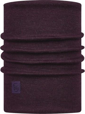 Теплый шерстяной шарф-труба Buff Wool heavyweight Solid Deep Purple фото 1