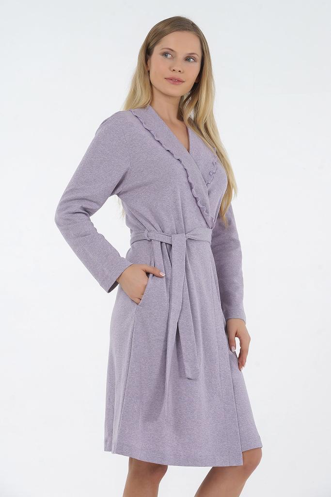 Женский халат из хлопка B&B