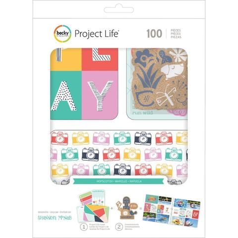 Kit набор карточек и украшений для Project Life -Hopscotch-  100шт