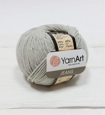 Пряжа YarnArt JEANS - (49-светло-серый)