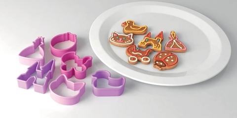 Формочки для печенья для девочек DELICIA KIDS, 6 шт.
