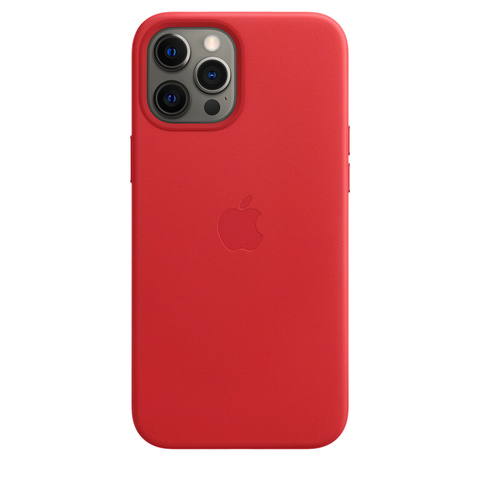 Apple Leather Case на iPhone 12 Pro Max (PRODUCT)RED