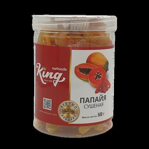 Папайя сушеная без сахара KING, 500 гр