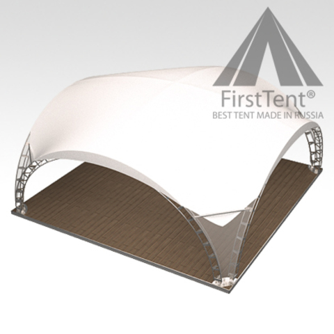 Арочный шатер дюна 8х8