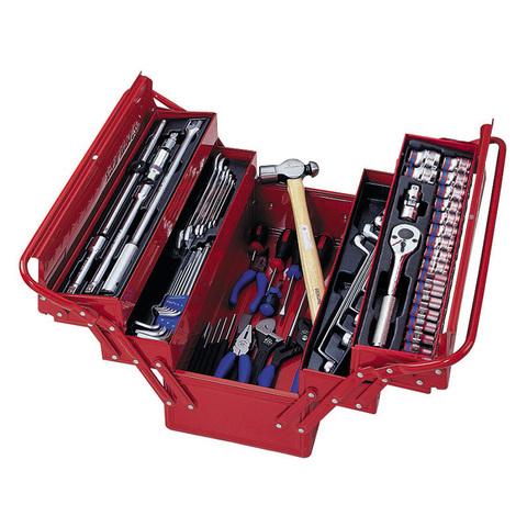 KING TONY (902-065MR01) Набор инструментов универсальный, раскладной ящик, 65 предметов