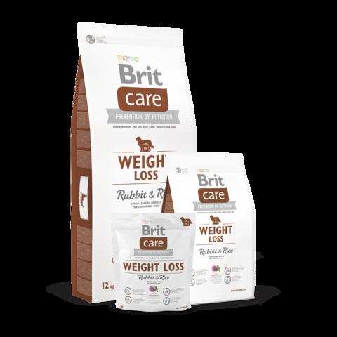 Brit Care Weight Loss Сухой корм для собак склонных к полноте Кролик и Рис