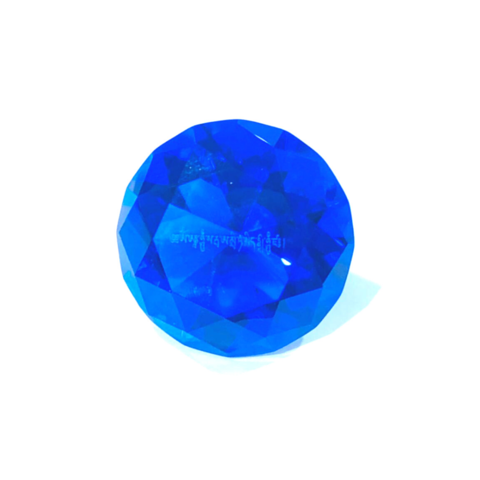 Кристалл голубой с мантрой