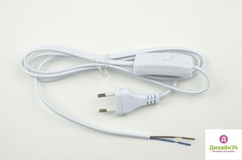 Сетевой шнур с вилкой и выключателем напольный. 2А. 500Вт. 1.7м.