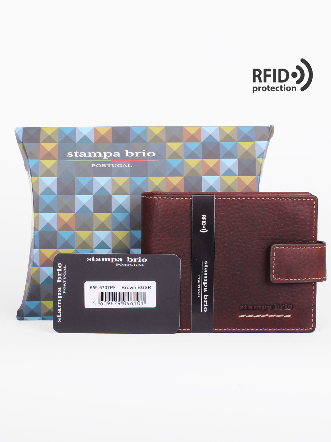 659 R - Портмоне с отделением на молнии с RFID защитой