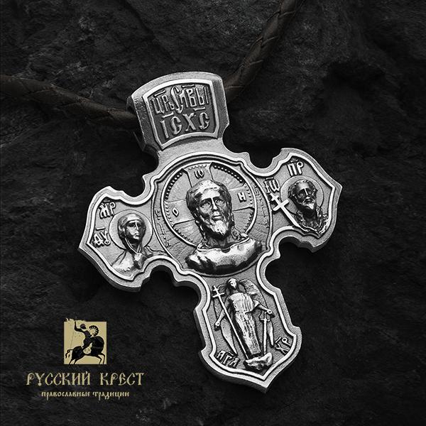 Серебряный крест мужской большой
