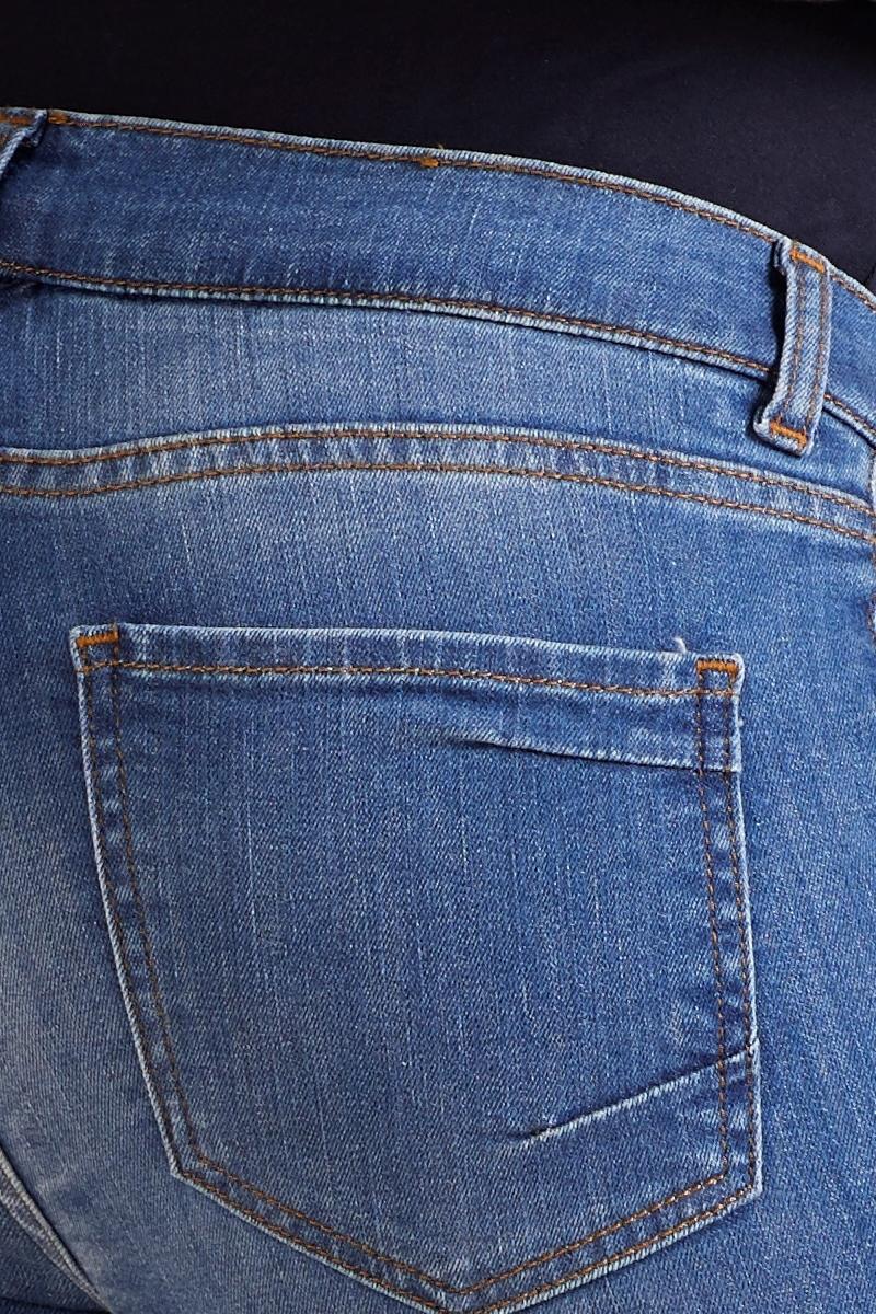 Фото джинсы для беременных GEBE, укороченные, широкий бандаж, зауженные от магазина СкороМама, синий, размеры.