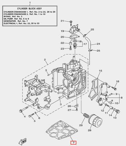 Прокладка под двигатель для лодочного мотора F20 Sea-PRO (2-7)