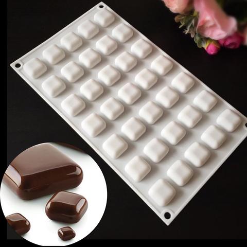 Силиконовая форма для шоколада  Micro GEM подушечки 35в1 (белый силикон) (25х25мм)