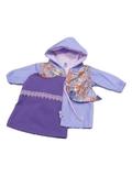Комплект с плащом с баской - Сиреневый. Одежда для кукол, пупсов и мягких игрушек.