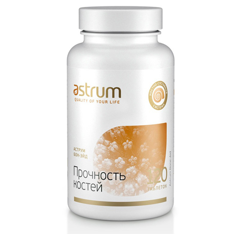 Astrum БАДы: Биодобавка Аструм Бон-Эйд (Прочность костей), 120таб.