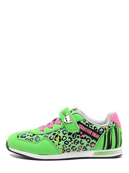 Кроссовки Монстер Хай (Monster High) на липучке для девочек, цвет зеленый