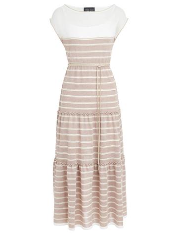 Женское платье лавандового цвета из вискозы - фото 1