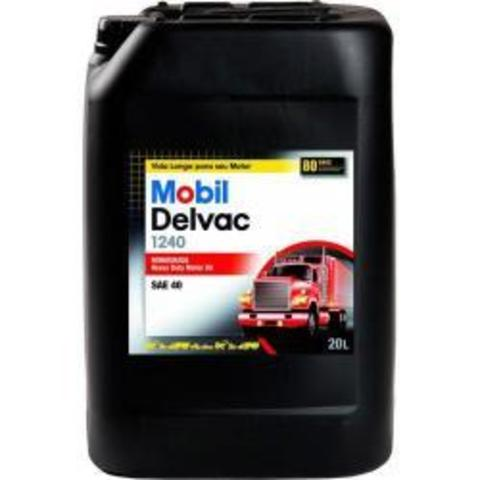 121490 MOBIL DELVAC 1240 SAE 40 минеральное масло для коммерческого транспорта 20 Литров купить на сайте официального дилера Ht-oil.ru