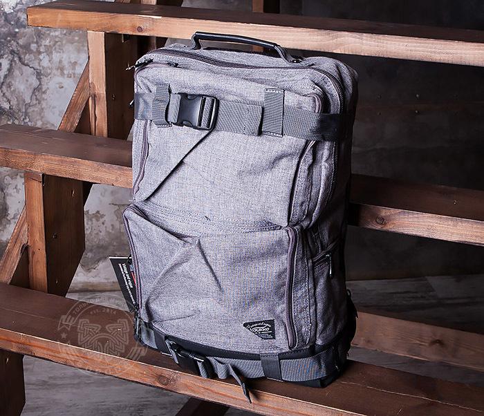 BAG405-2 Вместительный мужской рюкзак трансформер сумка для города из ткани фото 05