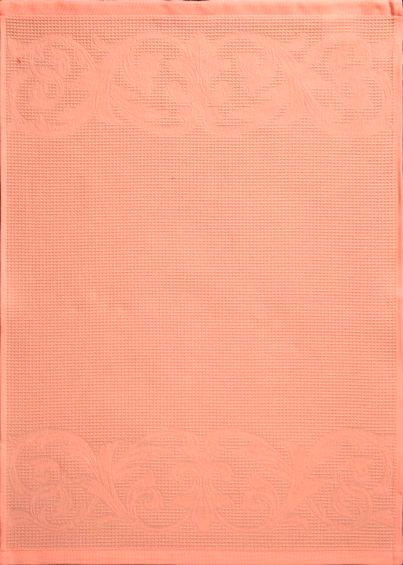 Рисунок полотенца 50х70, цвет персиковый-134
