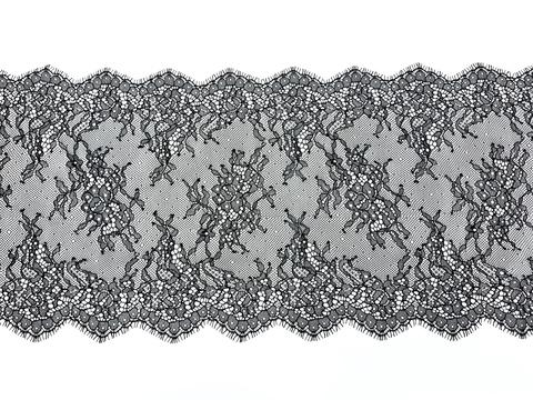 Кружево реснички черное (22*300 см)