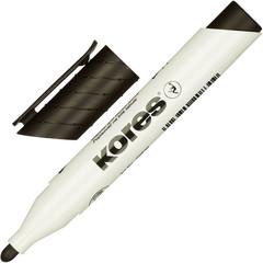 Маркер для досок Kores 20833 черный (толщина линии 3 мм)