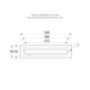 Размеры рамки TWT8001B для встраиваемого монтажа автономных указателей серии ESC-80