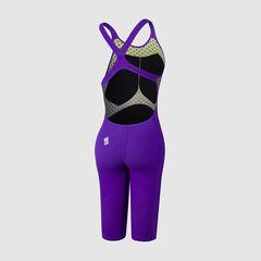 (2020) Стартовый костюм SPEEDO FASTSKIN LZR PURE VALOR Openback Kneeskin Violet/Fluo yellow/Black ПОД ЗАКАЗ