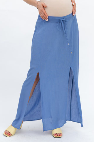 Юбка для беременных 08631 голубой