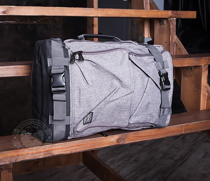 BAG405-2 Вместительный мужской рюкзак трансформер сумка для города из ткани фото 06