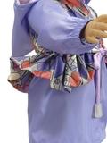 Комплект с плащом с баской - На кукле. Одежда для кукол, пупсов и мягких игрушек.