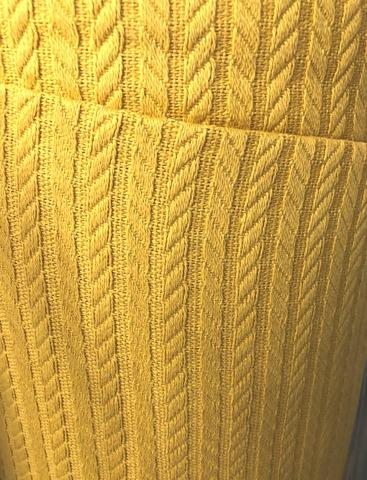 Полотно вязаное. Горчица. (100% хлопок).