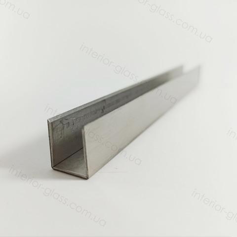 Профиль (швеллер) нержавеющий 15x11x15 мм, L=3 м ST-502-8 SSS матовый